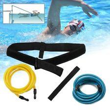Swim Training Belt Swimming Resistance Safe Tether Leash Pool Training Strap New