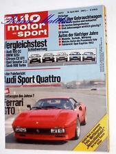 AMS 8-84+AUDI SPORT QUATTRO+LANCIA DELTA HF+FERRARI GTO+BMW 525+SAAB 900+205 GTI