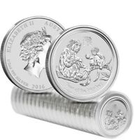 Roll of 20 - 2016 1/2 oz Silver Lunar Year of The Monkey BU Australian Perth
