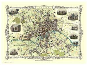 History Portal Leeds 1851 Map John Tallis 1000 Piece Jigsaw 690mm x 480mm (jg)
