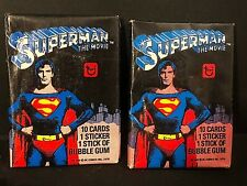 1978 Topps SUPERMAN the Movie Series 1 LOT of ( 2 ) WAX PACKS Factory Sealed NEW