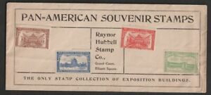 Raynor Hubbell Stamp Co Pan-American Souvenir Stamps Advertising Envelope
