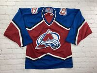 Vintage 90s CCM Colorado Avalanche NHL Men's Sewn Hockey Jersey Men's Small