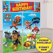 PAW PATROL BIRTHDAY PARTY SUPPLIES SCENE SETTER DECORATING KIT BACKDROP BANNER