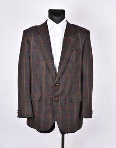 DAKS Vintage Men Wool Jacket Blazer Size EUR-52 UK42, Genuine
