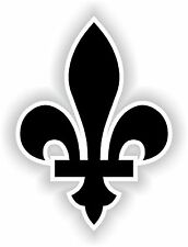 1x Noir Quebec Fleur de Lys Canada Black Vinyl Sticker Decal Autocollant Laptop