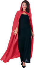 Red Long Hooded Cape Fancy Dress Vampire Fairytale Halloween Costume Ladies Robe