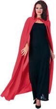 Rosso lungo con cappuccio Mantello Costume Vampiro FAVOLA Halloween Costume Signore ROBE