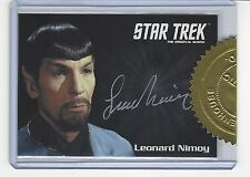 Star Trek TOS 50th Anniversary 6 case incentive auto card -  Leonard Nimoy