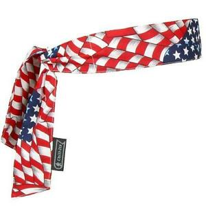 Chill Its 6700 - Patriotic Stars & Stripes Flag Cooling Bandanna for Heat Stress