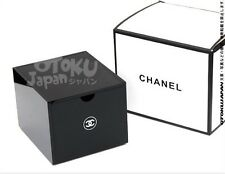 CHANEL Black Acrylic VIP Gift Vanity Box / Brush Holder Makeup (Including cover)
