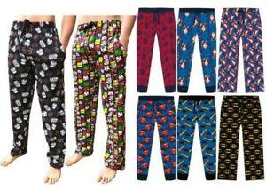 Hommes Personnages Salon Pyjama Pantalon Marvel Star Wars Dc Disney Potter