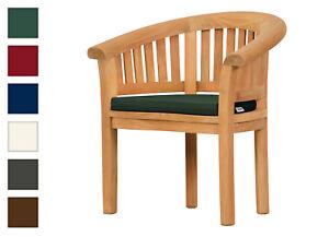 Halbrundes Sitzkissen für Gartensessel (57 x 43 cm)