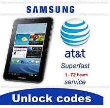AT&T FACTORY UNLOCK CODE SAMSUNG GALAXY TABLET TAB 3 SGH-I957 SGH-I987 SM-T217A
