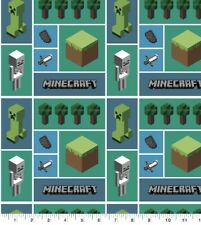 """Minecraft 100% cotton Fabric sold by the FAT QUARTER 18"""" x 21"""""""