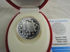 1998 Israel 50th Anniversary / Jubilee BU Coin 1 Nis 14.4g Silver + COA + Box