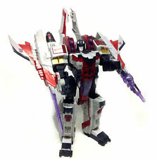 "TRANSFORMERS Huge Leader STARSCREAM 16"" spaceship to robot figure toy RARE!"