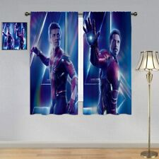 Marvel Heros Peter Parker&Tony Stark Window Curtains Blackout Insulated 2 Panels