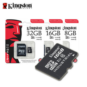 Kingston 8GB 16GB 32GB Industrial Grade microSD UHS-I R: 90 MB/s + adapter