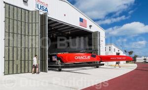 DuroBEAM Steel 90x96x18 Metal Building Clear Span 60' Hanger Door Opening DiRECT