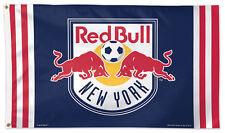 NEW YORK RED BULL Huge 3'x5' Official MLS Soccer Team DELUXE FLAG