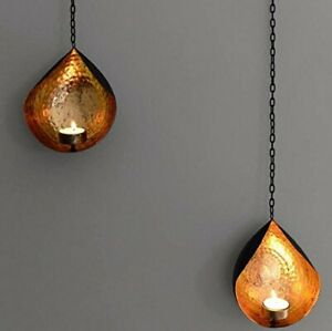 Collectible India Metal Wall Sconces Tealight Candle Holder Wall Hanging - 2