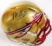 Nick O'Leary Autographed Florida State Seminoles Mini Helmet (JSA)