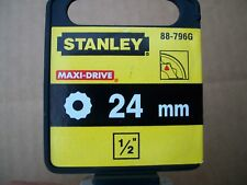 NEW STANLEY 1/2 in Drive 24 mm MAX DRIVE 12 POINT SOCKET