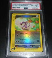 PSA 8.5 NM-MINT+ Aipom 67/147 Aquapolis REVERSE HOLO Pokemon Card
