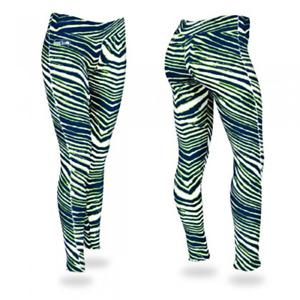 Zubaz NFL Women's Seattle Seahawks Zebra Print Legging Bottoms