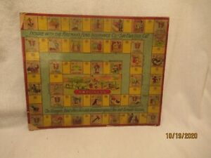 1896 Firemans Fund Insurance Co of San Francisco Thomas Chard Graphic Game Board