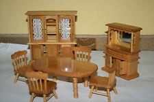 Puppenmöbel * Eßzimmer * Stühle* Tisch * Schrank