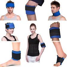 Ice pack hot cold gel pack body wrap for shoulder knee head neck elbow reusable