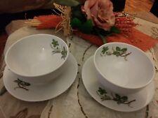 Servizio 4 coppe ciotole tazze salsiere  porcellana bavaria vintage porcelain