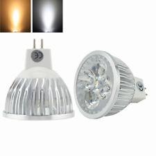 N 3 Lampade MR 16 12V/4 led 1X4 4W ( 40W) Bianco Caldo 3500K PAVIA