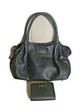 kate spade Bag Wallet Berkshire Rd Stevie Satchel black leather handbag Ret$368.