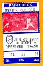 *SPECIAL/MINT 1977 RED SOX TICKET STUB AT FENWAY-PLEASE READ...