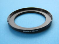 46mm to 58mm Step Up Step-Up Ring Camera Lens Filter Adapter Ring 46mm-58mm