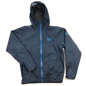 Mountain Hardwear Finder Rain Jacket Mens Medium Blue Hooded Windbreaker