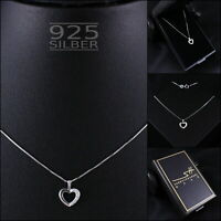 Herzkette Herz Halskette 925 Sterling Silber Damen, im Etui, Schmuckhandel Haak®