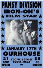 Pansy Division Iron-On's Film Star Concert Poster Artist M Getz