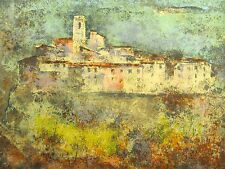 """Vu Cao Dam """"Vence"""" Signed Numbered Lithograph French town 1971 MAKE OFFER!"""