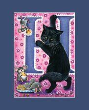 "Alphabet Cat ACEO Print Letter ""H"" by I Garmashova"