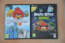 lot 2 jeux PC : ANGRY BIRDS Rio + Space - TBE