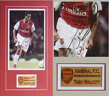 Theo Walcott Arsenal Signed Photo mounted with COA