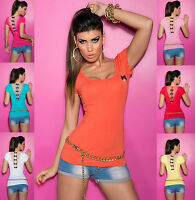 Womens Top Ladies Blouse Clubbing Party Lace & Bow Party Shirt Size 6 8 10 12