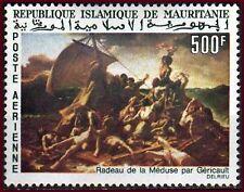 MAURITANIE 1966 PA N°61** GERICAULT LE RADEAU DE LA MEDUSE TABLEAU PAINTING MNH