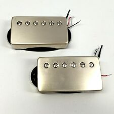 Bare Knuckle Painkiller Humbucker Pickup Set, Raw Nickel Covers +Picks