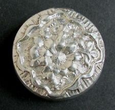 ANTIQUE MAUSER & CO STERLING SILVER  PILL BOX WITH FLORAL MOTIFS