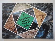 LAND ROVER STATION WAGONS orig 1974 UK Mkt Sales Brochure - 88 Regular 109 Long